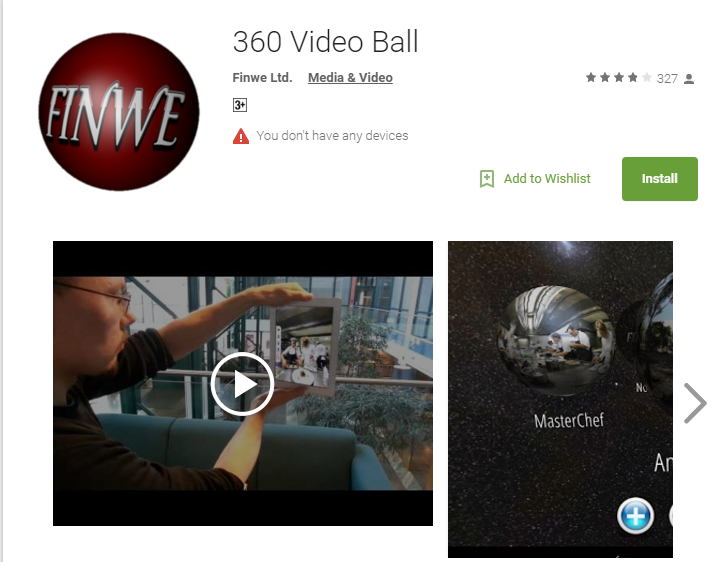 Video Ball - 360 degree video player