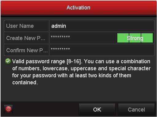 Hikvision Camera password