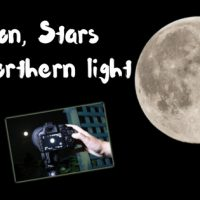 How to take moon star and northern light photo with D3100