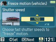 Nikon D3100 Shutter Speed