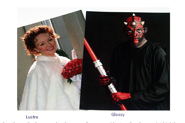 Lustre vs Glossy 1