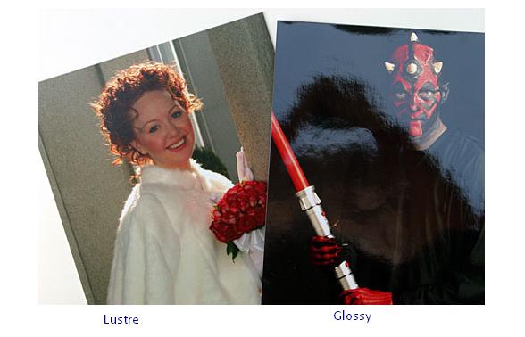 Lustre vs Glossy