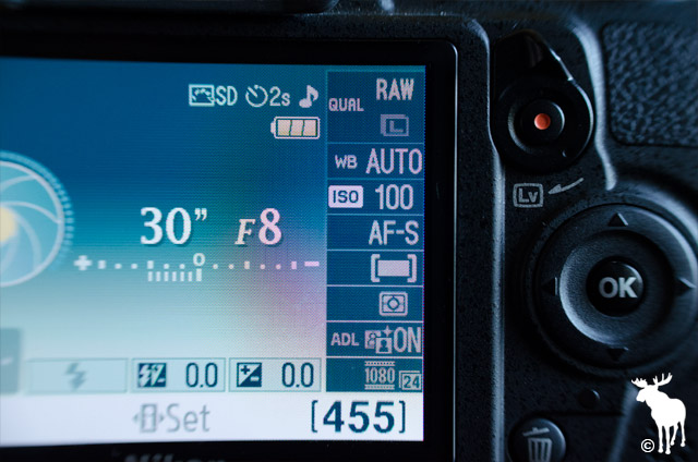Nikon D3100 Aperture / Fstop
